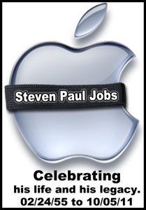 Steve Jobs Memorial Apple Logo www.CustomGenius.com